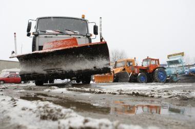 Uostamiesčio gatvėse sniegas įveiktas