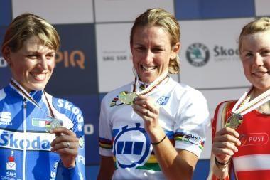 Dviratininkės pasaulio čempionato asmeninėse lenktynėse neblizgėjo