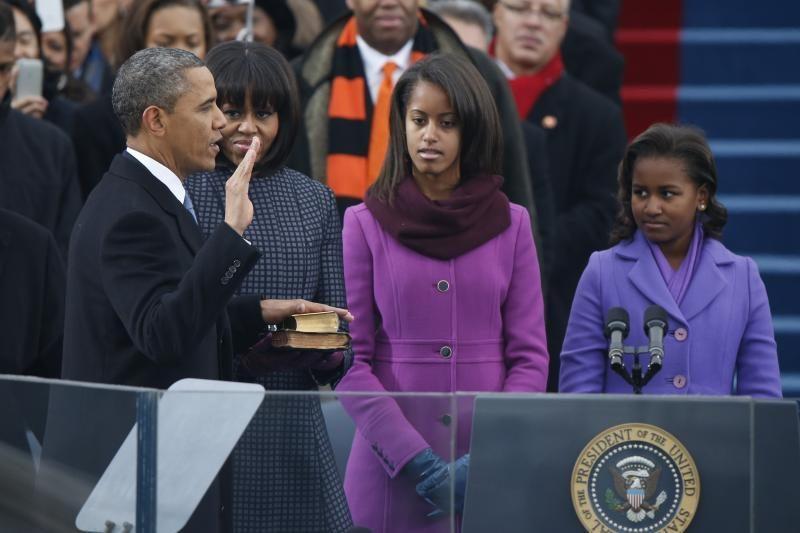 B. Obama viešai prisaikdintas antrajai JAV prezidento kadencijai