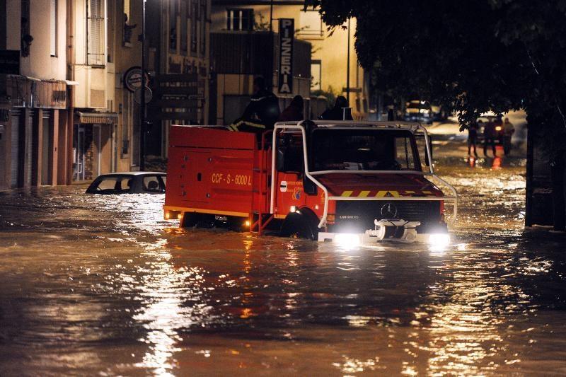 Potvyniai dalyje Prancūzijos sukėlė chaosą