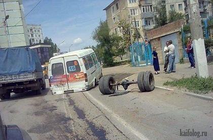 Mikroautobusai Rusijoje: veža, nes važiuoja (foto)