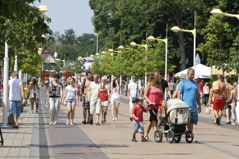 Poilsiautojų mokesčiai už automobilių stovėjimą gatvėse pildo Palangos iždą