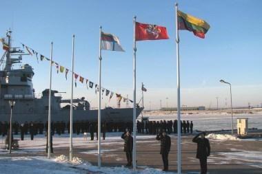 Karinėse jūrų pajėgose - Valstybės atkūrimo dienos minėjimas