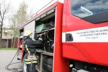 Per gaisrą Kretingoje nukentėjo latvis