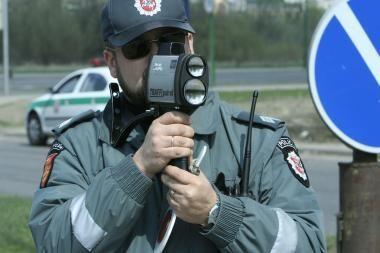 Reidas! Vilniuje policija gaudys greitį viršijančius vairuotojus
