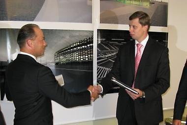 Oficiali arenos statybos pradžia – rugsėjo 26-oji