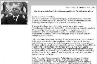 Paminklo žuvusiam prezidentui L.Kaczynskiui reikalauja internete
