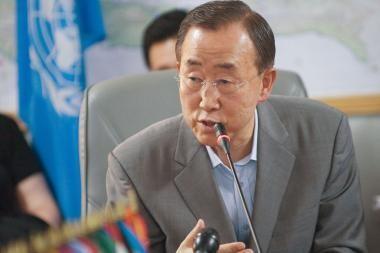 Ban Ki-moonas: Mes su Haičiu