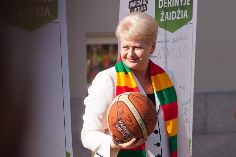 D.Grybauskaitė - už olimpinių žaidynių atrankos turnyrą Lietuvoje