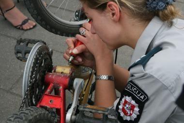 Uostamiestyje - dar 200 policijos saugomų dviračių