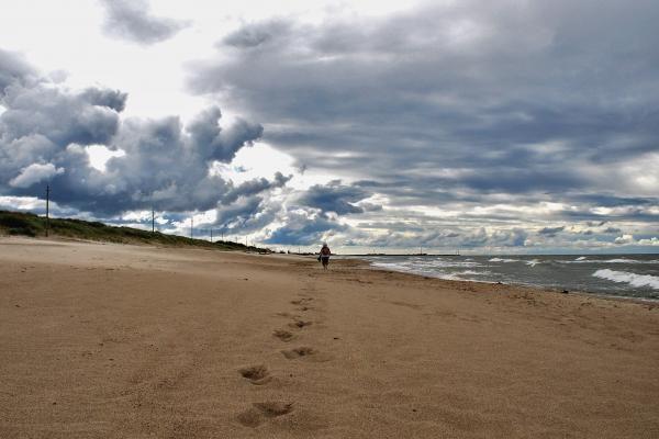 Paplūdimyje šilčiau nei mieste