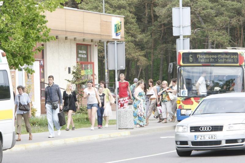 Klaipėdos pajūris dūsta nuo poilsiautojų automobilių