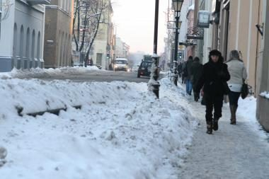 Klaipėdą stingdo šaltis, eismo sąlygos geros