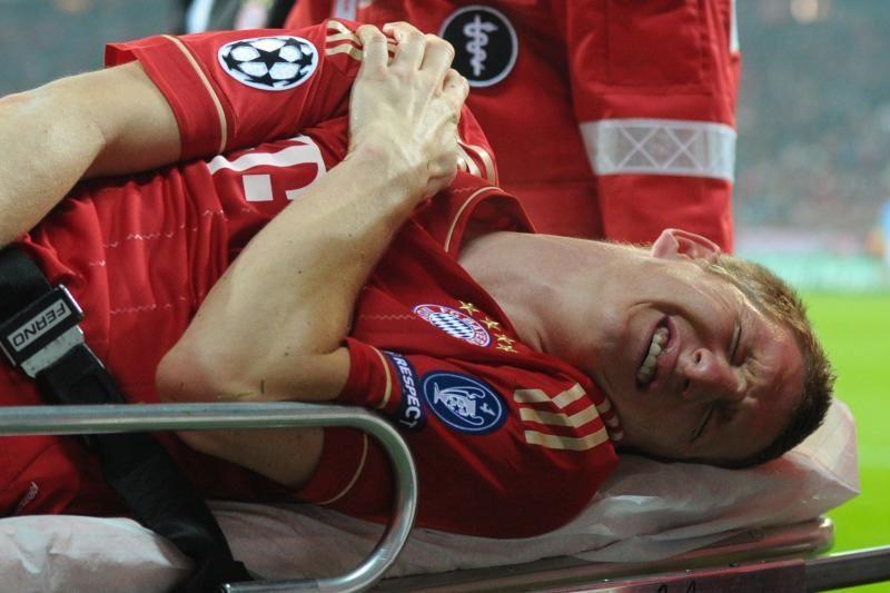 B.Schweinsteigeris negalės žaisti apie pusantro mėnesio
