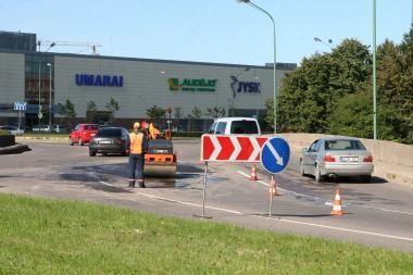 Duobėtas Baltijos ir Taikos pr. žiedas erzino vairuotojus