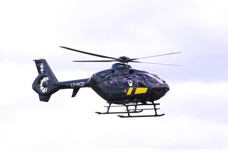 Į Klaipėdos ligoninę pacientė atgabenta straigtasparniu