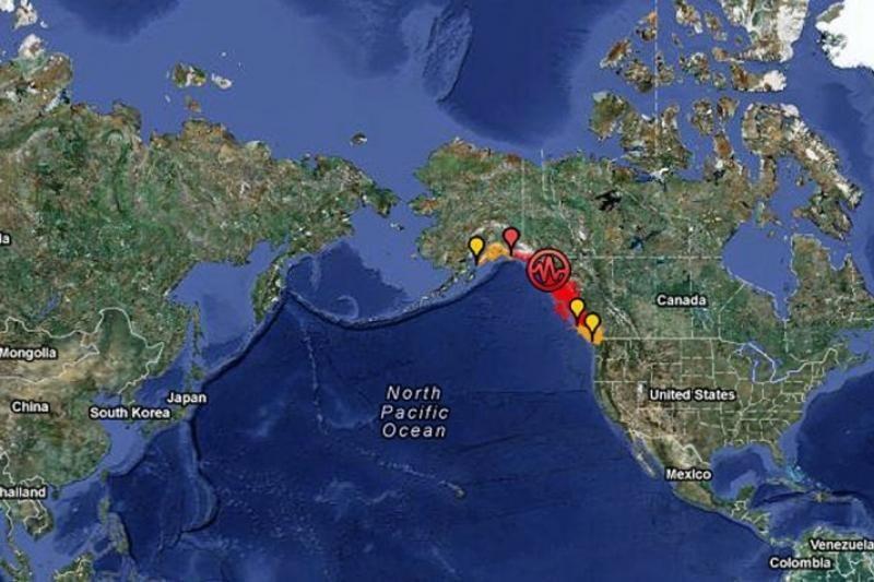 Aliaskos pakrantę supurtė 7,5 balo žemės drebėjimas