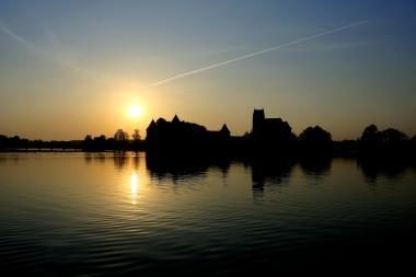Viduramžius gaivino naktis Trakų salos pilyje