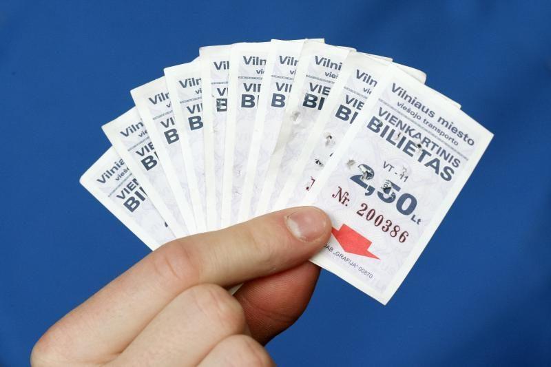 Popierinių bilietų pardavimą siūloma pratęsti iki kovo pabaigos