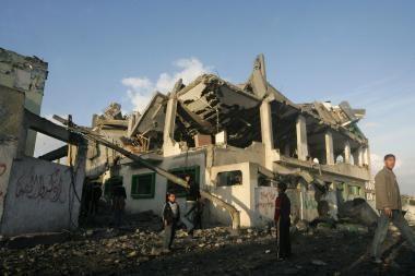 Gazos ruožas išgyveno dar vieną bombardavimų naktį