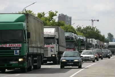 Per Lietuvą nuvilnijo vežėjų protestai (papildyta)