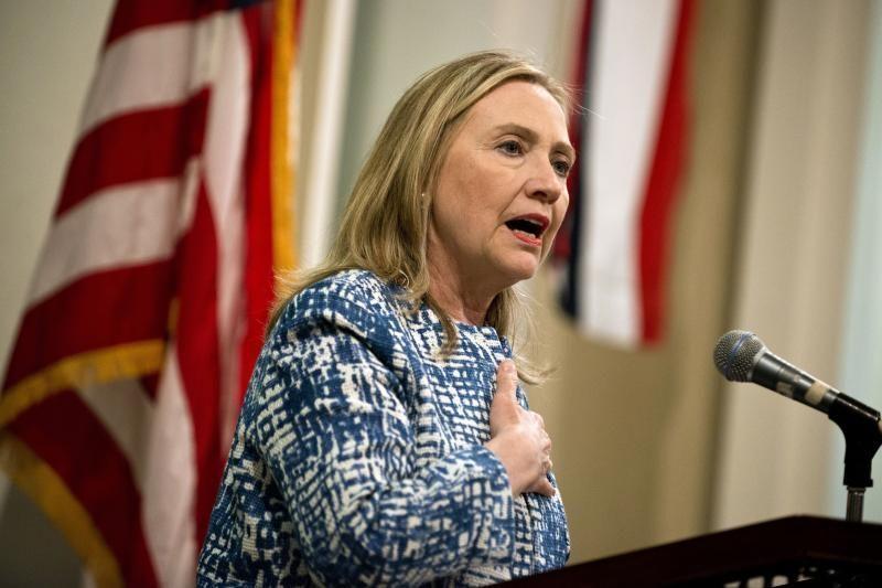 H. Clinton dėl trombo atsidūrė ligoninėje