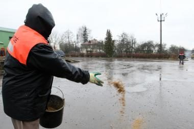 Vakarų Lietuvoje - šlapdriba