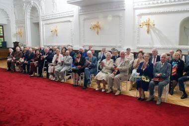 Rekordinis skaičius auksinių porų Kauno rotušėje