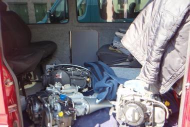Nidoje sulaikytas rusas su vogtais varikliais