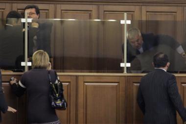 Ukrainos deputatai nušalino pirmininką ir susimušė
