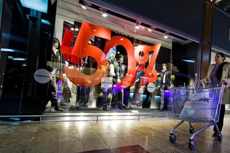 Apklausa: akcijinės prekės nedomina 1,6 proc. didmiesčių pirkėjų