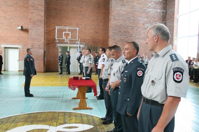 Uostamiestyje - policininkų priesaikos ceremonija