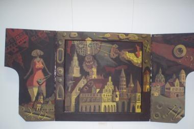 Mokyklą papuošė D.Rusio paveikslai