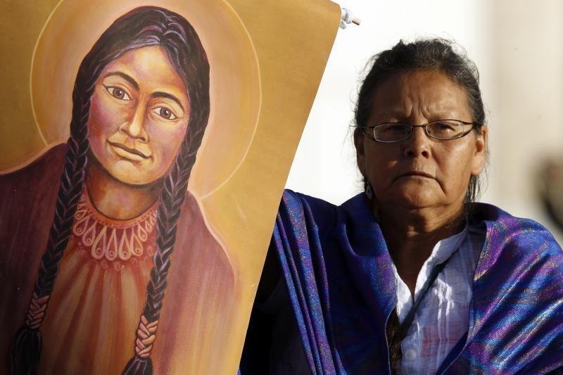 Pirmąkart šventąja paskelbta Amerikos indėnė