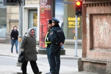 Policija gaudo pėsčiuosius
