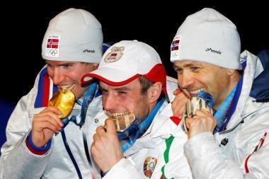 Baltarusiai negali patikėti savo sėkme biatlono varžybose