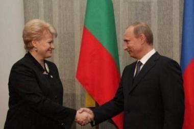 Lietuvos vadovė V.Putinui kėlė dujų kainų klausimą (papildyta)