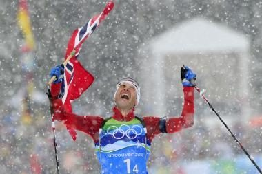 Olimpinė biatlono programa pasibaigė norvegų pergale