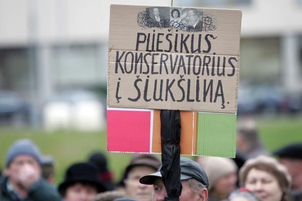Pensininkai Vilniuje mitinguos kitą trečiadienį