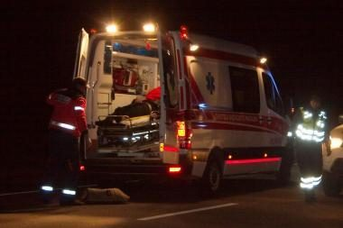 Penki neblaivūs šilutiškiai važiuodami namo pateko į avariją