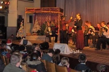 Globos namų vaikams surengtas kalėdinis koncertas
