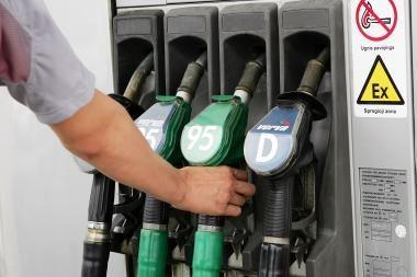 Benzinas per savaitę dalyje degalinių pigo, dyzelinas - brango