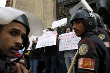 Egipto policija sulaikė šimtus jaunuolių