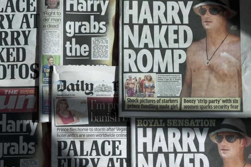 Viešai paskelbtos nuogo princo Harry nuotraukos