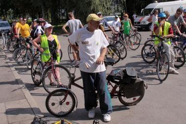 Per karščius – į dviračių žygį