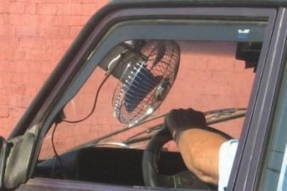 Automobiliai be kondicionierių pavojingi