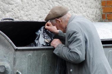Prie Biržos tilto – skurstančiųjų paramos akcija