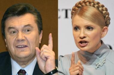 Rinkimai Ukrainoje: V.Janukovyčius ir J.Tymošenko iškopė į finalą