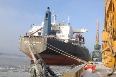 Klaipėdoje - didžiausią kiekį trąšų uosto istorijoje išgabensiantis laivas