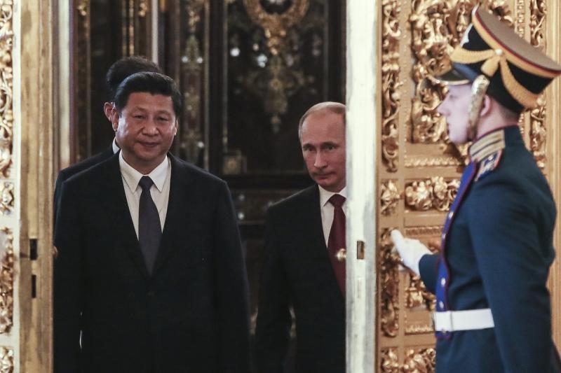 Prašmatnus Kinijos prezidento Xi Jinpingo sutikimas Rusijoje
